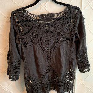Dark Charcoal blouse